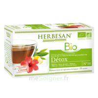 Herbesan Infusion Bio Tisane Détox 20 Sachets à La-Valette-du-Var
