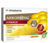 Arkoroyal Dynergie Ginseng Gelée Royale Propolis Solution Buvable 20 Ampoules/10ml à La-Valette-du-Var