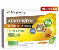 Arkoroyal Gelée Royale Bio Sans Sucre 1500mg Solution Buvable 20 Ampoules/10ml à La-Valette-du-Var