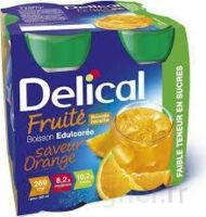 Delical Boisson Fruitee Nutriment édulcoré Orange 4bouteilles/200ml à La-Valette-du-Var