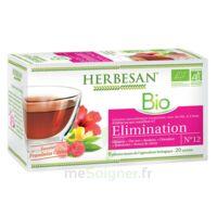 Herbesan Hibiscus Bio Tisane élimination 20 Sachets à La-Valette-du-Var